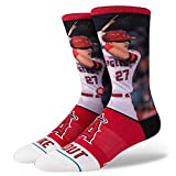 Stance Men's Mike Trout Socks Red L