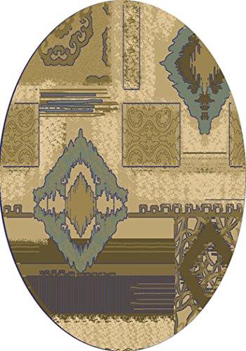 KAS Oriental Rugs Geneva Collection Diamonds Round Area Rug, 7' x 7