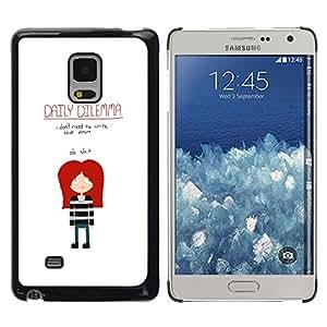 Samsung Galaxy Mega 5.8 / i9150 / i9152 , Radio-Star - Cáscara Funda Case Caso De Plástico (Funny - Daily Dilemma Emo)