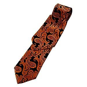 Paisley Neck Tie and Pocket Hankie set - Burnt Orange