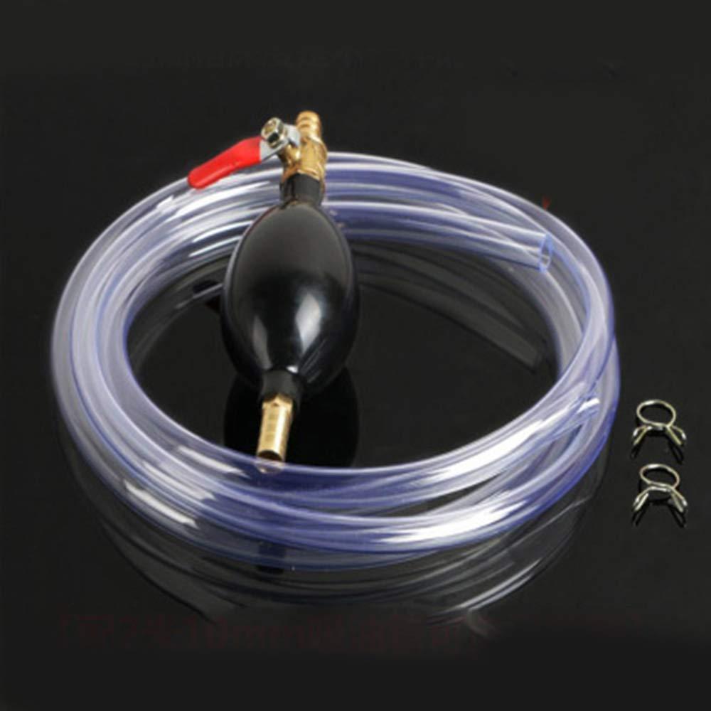 12 mm Hand-Siphonpumpe f/ür Benzin Diesel Wasser /Öl Fl/üssigkraftstoff-Transfer Einfache Handhabung Merssavo Fl/üssigkeitstransfer-Siphonpumpe