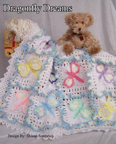 (Dragonfly Dreams Baby Afghan or Blanket Crochet Pattern)