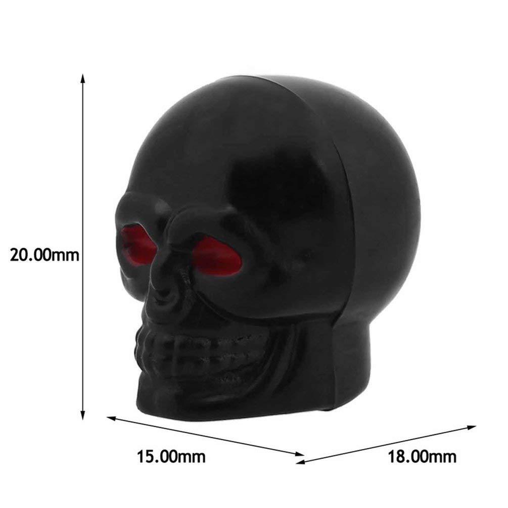 SHUANGCONG Il Cranio Unico del Pneumatico della valvola dellAria del Cappuccio ricopre Il Cranio dei Cerchioni del Cranio per Il Nero del Camion dellautomobile