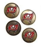 Tampa Bay BuccaneersNFL Golf Ball Markers (4 Pack)