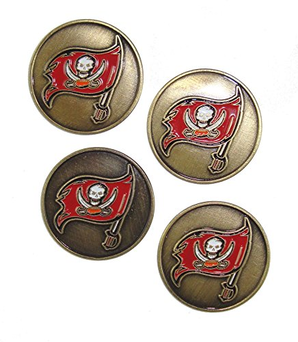 Tampa Bay Buccaneers NFL Golf Ball Markers (4 Pack) by McArthur