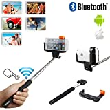 Extendable SELFIE Stick with INTEGRATED Bluetooth Remote Button and Universal Phone Holder Suitable for NIU Niutek 4.5D & 4.0D & 3.5D Smartphone - Fully Adjustable Handheld Monopod 11