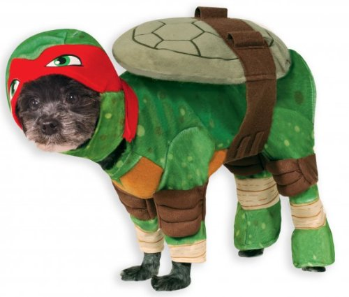 TMNT Raphael Dog Fancy Dress Superhero Teenage Mutant Ninja Turtles Pet Costume (Hot Male Superhero Costumes)