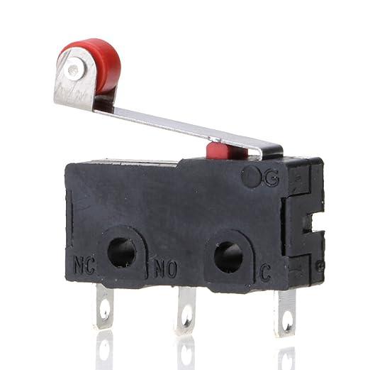 VANKER 10 Piezas de Micro Roller Lever Arm Abierto límite de ...