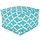 Majestic Home Goods Trellis Ottoman, Large, Teal