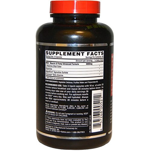 Nutrex NioX - Nitric Oxide Booster - 120 Capsules