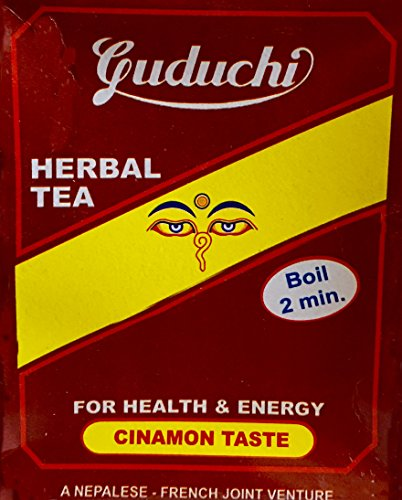 Lemongrass Jasmine White Tea - Gorkha Guduchi Himalayan Herbal Tea 125g Cinnamon Taste Pure Natural Collecting & Processing Naturally Occurring (Wild Crafted) high helling Power, Product of Nepal