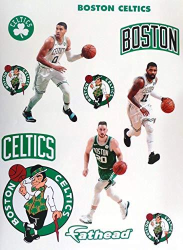 (FATHEAD Boston Celtics Mini Graphics Team Set 3 Players + 8 Celtics Logo Official NBA Vinyl Wall Graphics - Each Player 7