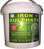 PREMIUM Iron Sulphate 1 KG (makes 500 Litres when diluted) Tub PURE LAWN TONIC- Sulphate of Iron Lawn Conditioner and Moss Killer. Dry Powder easily soluble in water
