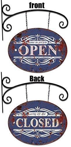 SOLO MOBILI Cartel brazo de hierro placa abierto/cerrado 54 ...