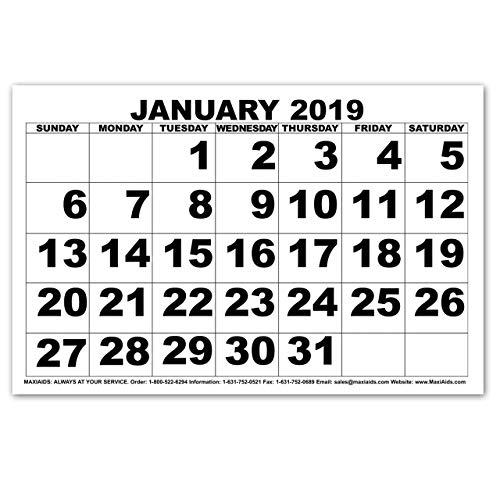 Low Vision Print Calendar - 2019 - Closeout (Low Vision Large Print Calendar)