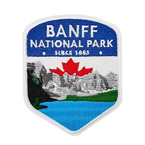 Banff National Park Embroidered Iron on Sew on Patch Canada Travel Souvenir