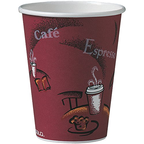 Solo 412SIN-0041 12 oz Bistro SSP Paper Hot Cup (Case of 1000) -