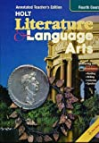 Holt Literature and Language Arts, Grade 10, Holt, Rinehart and Winston Staff, 0030573726