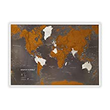 Scratch the World black edition wall map 2018