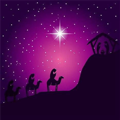 Christmas Jesus Wallpaper.Leyiyi 8x8ft Merry Christmas Jesus Christ Nativity Backdrop Shepherd Santa Marria Joseph Barn Camels Cold Winter Night Photography Background Baptism