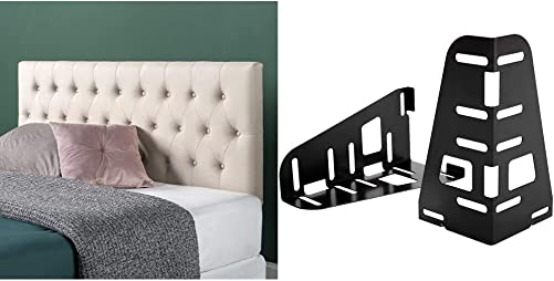 ZINUS Trina Upholstered Headboard/Button Tufted Upholstery/Adjustable Height/Easy Assembly