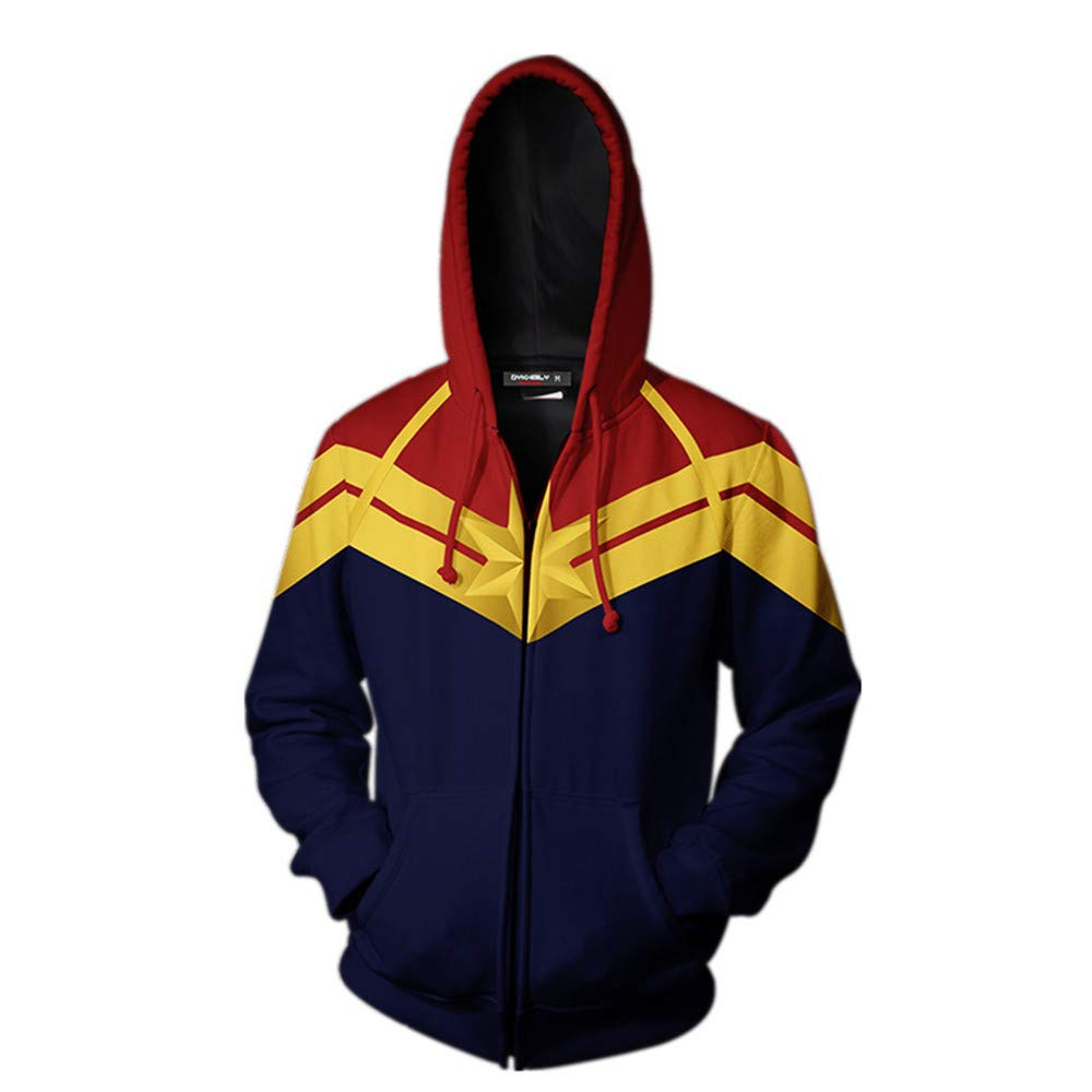 Adult Avenger's Endgame Quantum Realm Hoodie Jacket Costume Cosplay Costume Zipper Pullover Shirts Sweatshirt. (2:Zipper Closure, XX-Large)