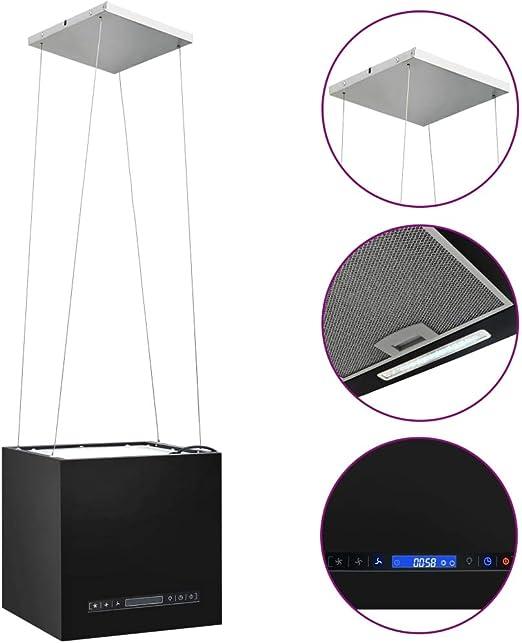 Festnight Campana Extractora Colgante Táctil LCD Campana Extractora Decorativa Acero Recubierto 37 cm: Amazon.es: Hogar