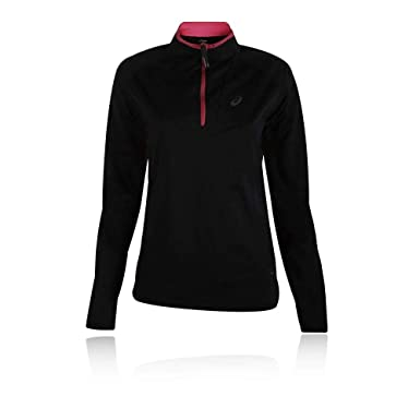 f3cd65af Asics Fujitrail Women's Half Zip Running Top Black: Amazon.co.uk ...