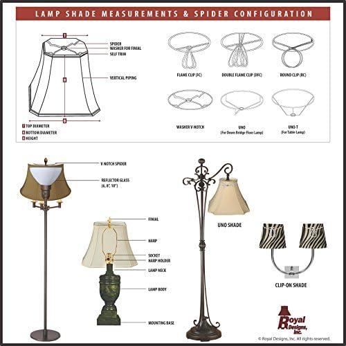 Royal Designs Inc BSO-719-14WH BSO Lamp Shade, White