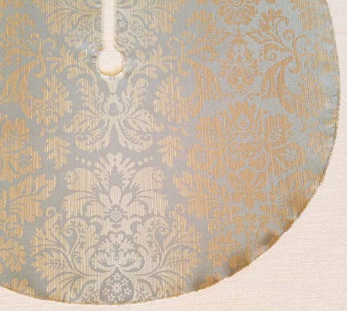Icy Blue Champagne Damask 25