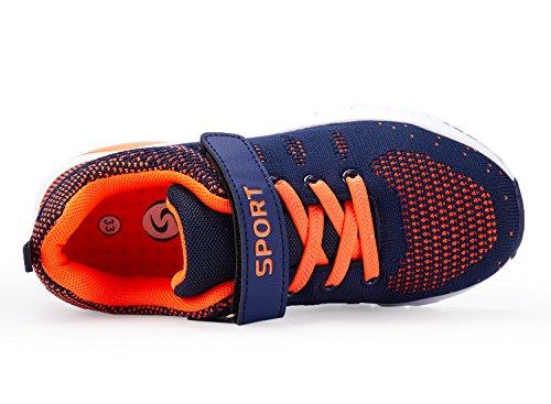 Ragazza Leggera Mesh Ragazzi Arancione In Unisex Leggero Scarpe Mayzero Atletico Bambina Per Ginnastica Kids Da Corsa Sneaker Ragazze Ragazzo 8O0wknP