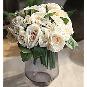 Maefant Vintage Artificial Peony Silk Flowers Bouquet Home Wedding Decoration 9