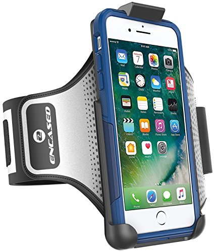 Encased Workout Armband for Otterbox Commuter Series - iPhone 8 Plus (5.5'') Sweat-Resistant Band (case is not included) by Encased (Image #6)