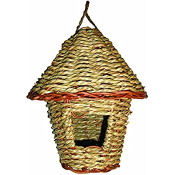 """Gardman BA05201 Woven Rope Roosting Pocket with Roof, 6"""" Long x 6"""" Wide x 8"""" High"""