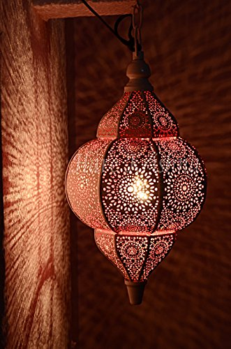 Pink Metal Pendant Light in Florida - 3