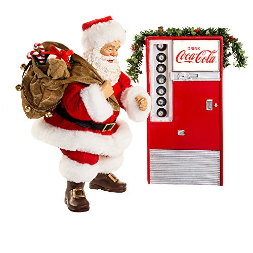 Kurt S. Adler Battery-Operated Santa with Coke Machine Figure