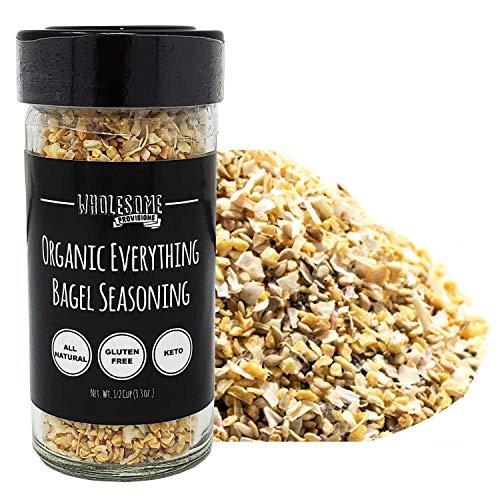 Non-GMO Certified, Organic Everything Bagel Seasoning, USDA Organic, Keto-Friendly, Paleo, Vegan, Meal Prep Seasoning, Sugar Free, Hand Blended, High Grade, Made in USA (1 Pack) (Best Meal Prep Seasoning)