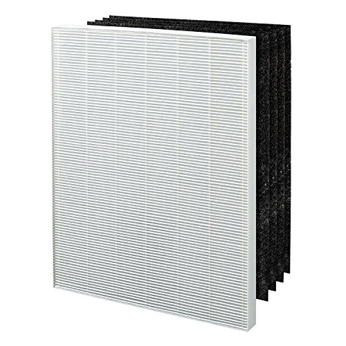 Extolife 1 True HEPA Plus + 4 Activated Carbon Pre Filters A 115115 Size 21 for Winix PlasmaWave Air Purifier 5300 6300 5300-2 6300-2 P300 C535