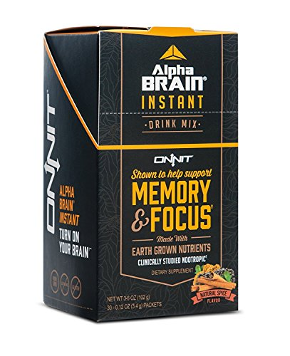Onnit Alpha Brain Instant Nootropic Drink Mix Clinically Studied