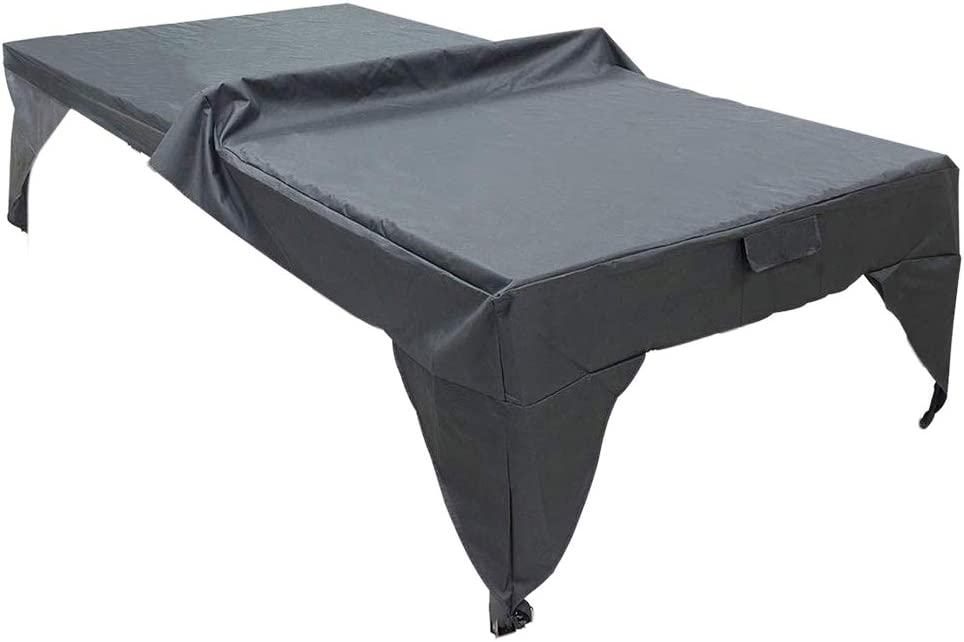Zchui - Funda para mesa de pingpong, cubierta impermeable para exteriores, fácil de limpiar en interiores, ligera, plegable, resistente al polvo, resistente al desgaste, hoja protectora práctica