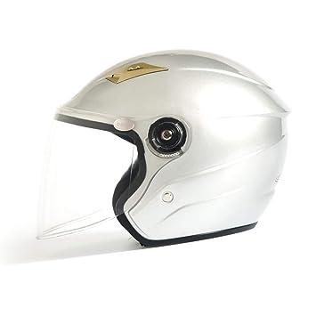 HTST Casco de Motocicleta Abierto Exterior Ligero multifunción Unisex autopista Ciclismo protección Parasol Visera HD Gafas