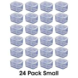 Small Connect-A-Box 24 pcs from Cottage Mills. Small item storage system that connects and stacks. Perfect for little things like beads, findings and parts. 2 Packages of 12.
