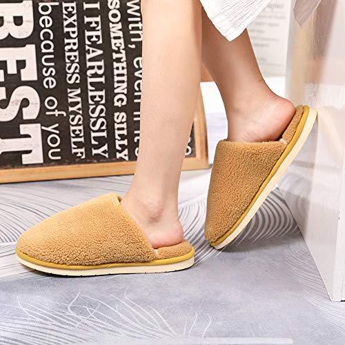 Womens Mens Slippers Memory Foam Comfort Cozy Warm Plush