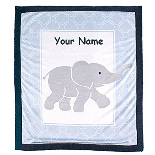 Personalized Luvable Friends Elephant Sherpa Backing Baby Bl
