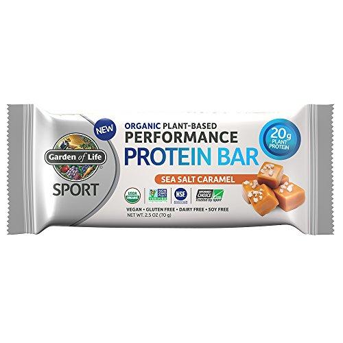 Garden of Life Organic Sport Protein Bar, Vegan, Sea Salt Caramel, 12 Count