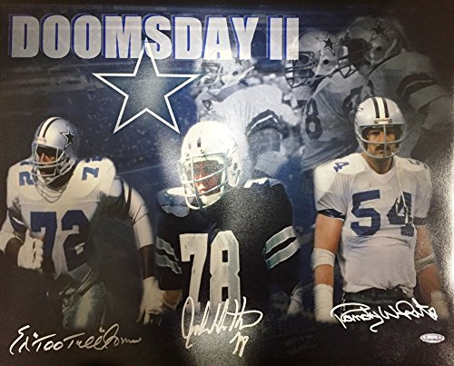 Cowboys Doomsday Defense Ii Signed 16x20 Photo Tristar Certifiedated White - Dallas Tri Shop