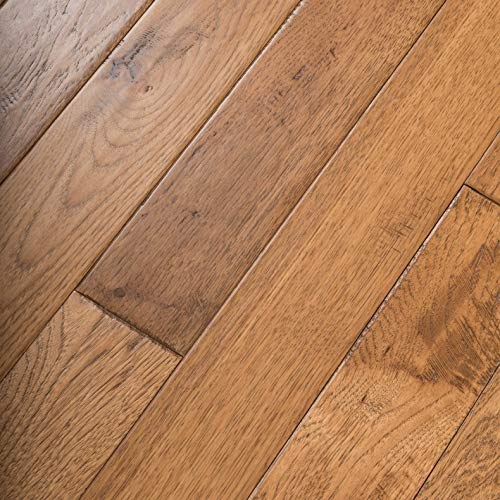 Hickory Hand Scraped Prefinished Solid Wood Floor, Summer Road, Sample, by Hurst Hardwoods