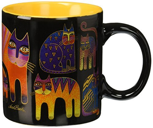 Laurel Burch Artistic Collection Mug, Fantastic Feline Totem, Multicolor by Laurel Burch