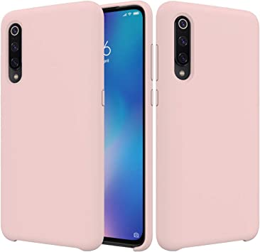 CoverTpu Funda Xiaomi Mi 9 Silicona, Rosa Funda Líquido de ...