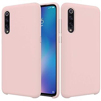 CoverTpu Funda Xiaomi Mi 9 Silicona, Rosa Funda Líquido de Silicona Gel TPU Flexible, Carcasa para Xiaomi Mi 9 Anti-Rasguño y Resistente Protectora ...
